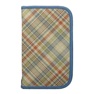 Modelo multicolor de la tela escocesa planificador