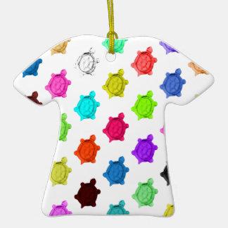 Modelo multicolor de la tortuga ornamentos de reyes magos