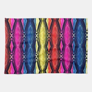 Modelo multicolor de las cadenas. Diseño artístico Toallas De Mano