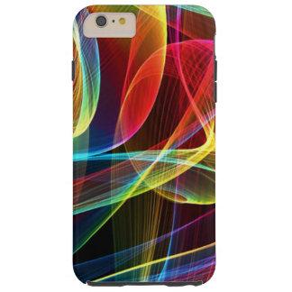 Modelo multicolor de las cintas de Digitaces Funda Para iPhone 6 Plus Tough