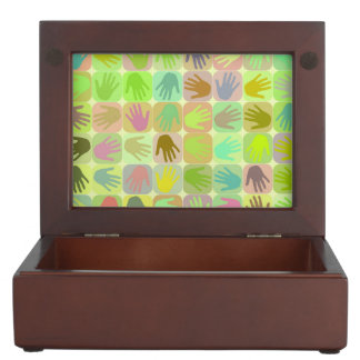 Modelo multicolor de las manos cajas de recuerdos