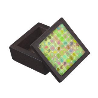Modelo multicolor de las manos cajas de recuerdo de calidad