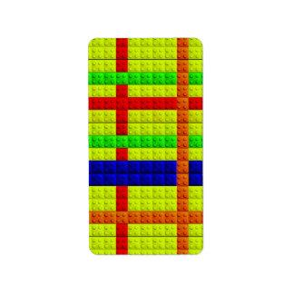 Modelo multicolor de los bloques etiquetas de dirección