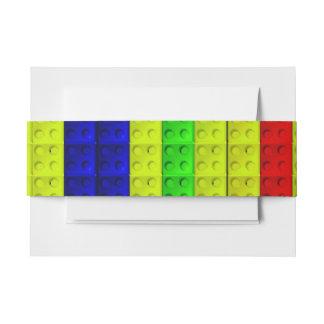 Modelo multicolor de los bloques decoración para invitaciones