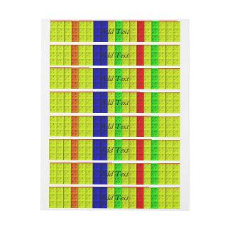 Modelo multicolor de los bloques etiquetas postales