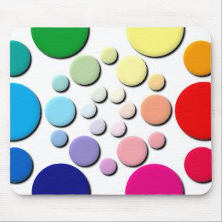 Modelo multicolor de los círculos mouse pads