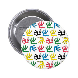 Modelo multicolor de los handprints pin