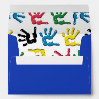 Modelo multicolor de los handprints
