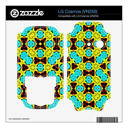 Modelo multicolor de moda LG cosmos skins