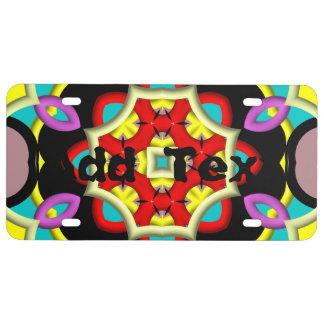 Modelo multicolor de moda placa de matrícula