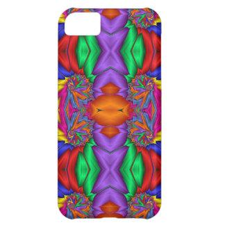 Modelo multicolor del fractal carcasa iPhone 5C