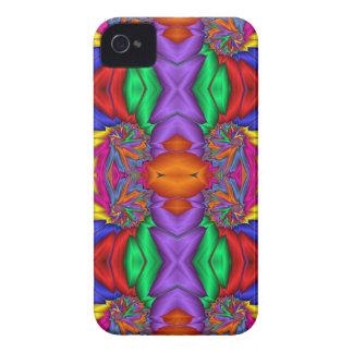 Modelo multicolor del fractal Case-Mate iPhone 4 carcasa