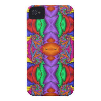 Modelo multicolor del fractal iPhone 4 funda
