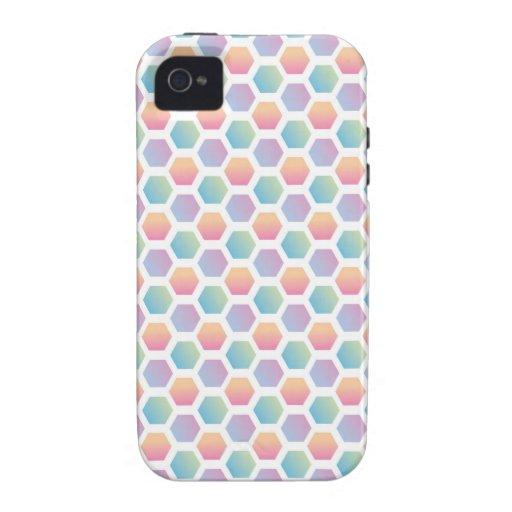 Modelo multicolor del hexágono iPhone 4 carcasas