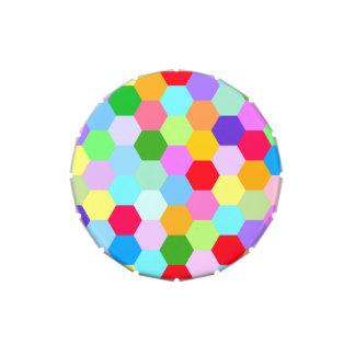 Modelo multicolor del hexágono