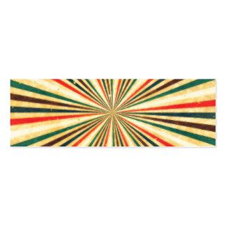 Modelo multicolor del remolino del vintage retro tarjetas de visita mini