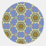 Modelo multicolor etiquetas redondas