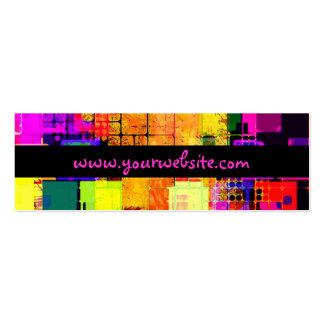 Modelo multicolor geométrico cuadrado tarjetas de visita mini