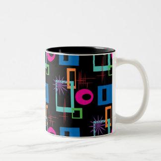 Modelo multicolor geométrico de Starburst Tazas De Café