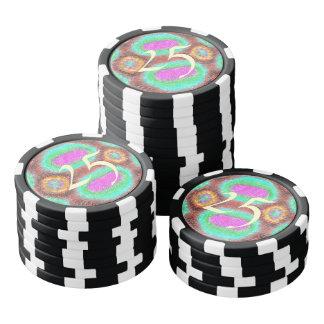Modelo multicolor impar fichas de póquer
