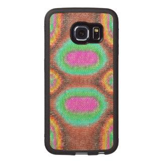Modelo multicolor impar funda de madera para samsung galaxy s6 edge