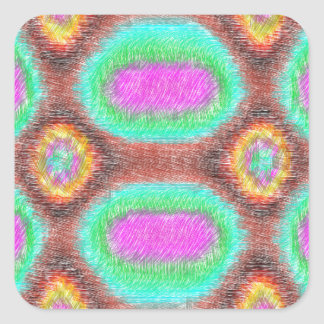 Modelo multicolor impar pegatina cuadrada