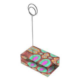 Modelo multicolor impar soportes para tarjetas de mesa