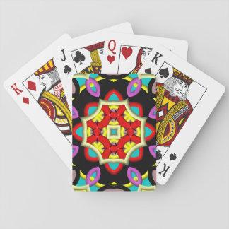 Modelo multicolor moderno baraja de cartas