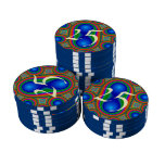 Modelo multicolor moderno juego de fichas de póquer