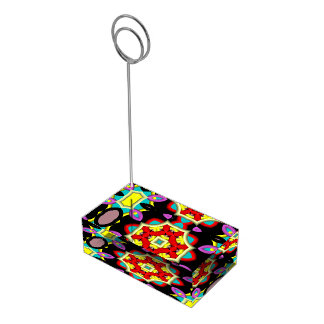Modelo multicolor moderno soporte para tarjeta de mesa