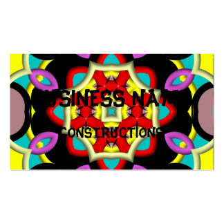 Modelo multicolor moderno tarjetas de visita
