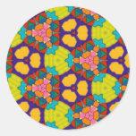 Modelo multicolor pegatina redonda