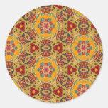 Modelo multicolor pegatinas redondas