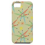 Modelo multicolor retro atómico de Starburst iPhone 5 Coberturas