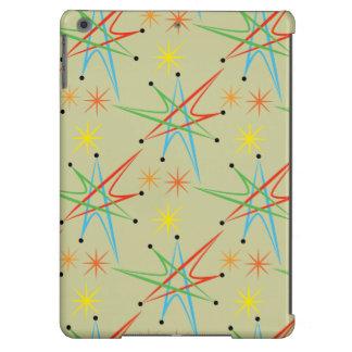Modelo multicolor retro atómico de Starburst Funda Para iPad Air