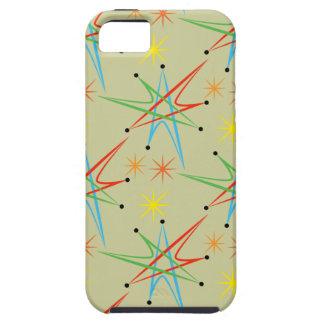 Modelo multicolor retro atómico de Starburst iPhone 5 Carcasas