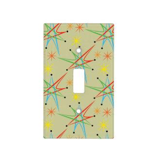 Modelo multicolor retro atómico de Starburst Placas Para Interruptor