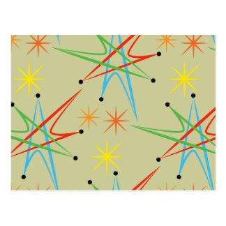 Modelo multicolor retro atómico de Starburst Postal
