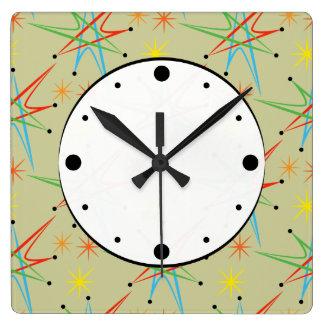 Modelo multicolor retro atómico de Starburst Relojes