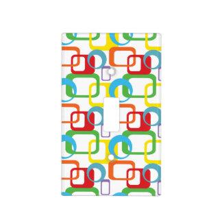 Modelo multicolor retro geométrico cubiertas para interruptor