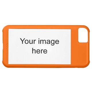 Modelo naranja plantilla en blanco fácil y rápida funda para iPhone 5C