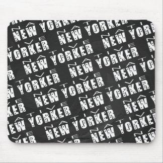 Modelo nativo del neoyorquino tapetes de ratón