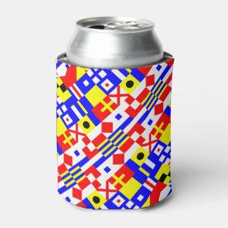Modelo náutico de las banderas enfriador de latas