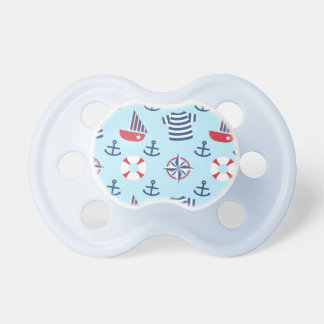 Modelo náutico del ancla azul del velero para los chupete de bebé
