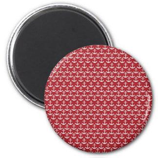Modelo náutico del ancla en rojo imán