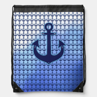 modelo náutico del azul del ancla del marinero