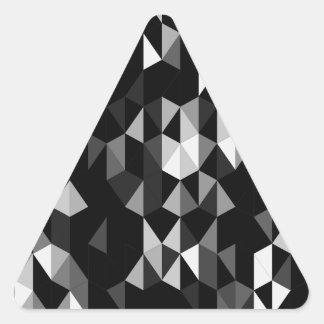 modelo negro 07 de la pirámide pegatina triangular
