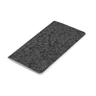 Modelo negro abstracto de la pluma cuaderno