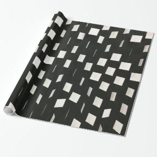 Modelo negro abstracto moderno de las casillas papel de regalo