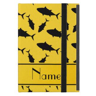 Modelo negro amarillo conocido de encargo del atún iPad mini coberturas
